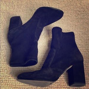 Saks Fifth Black suede leather boots size 7